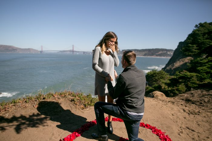 Micaela's Proposal in Lands End in San Francisco