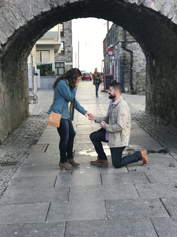 Wedding Proposal Ideas in The proposal was in Galway, Ireland at the Spanish Arch