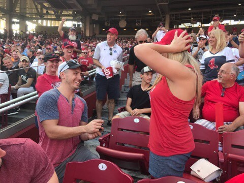 Engagement Proposal Ideas in Great American Ball Park