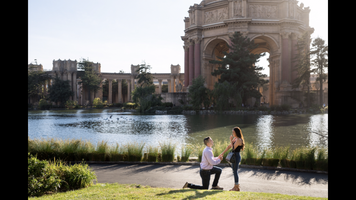 Marriage Proposal Ideas in Palace of Finw Arts, San Francisco CA