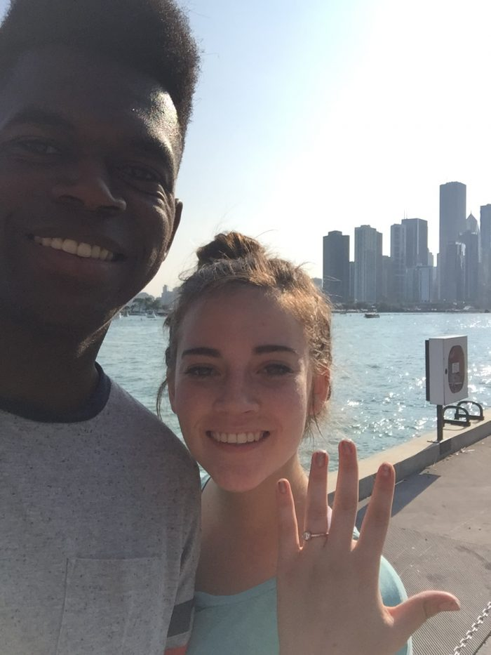 Amanda and Jared's Engagement in Navy Pier in Chicago