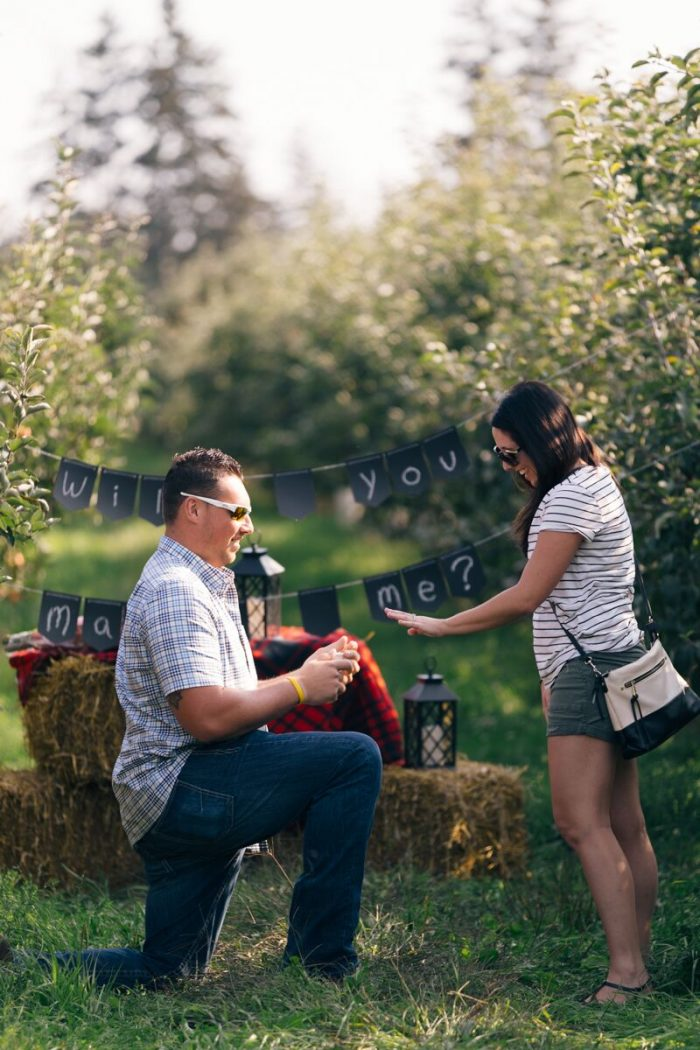 Where to Propose in Blakes Apple Orchard