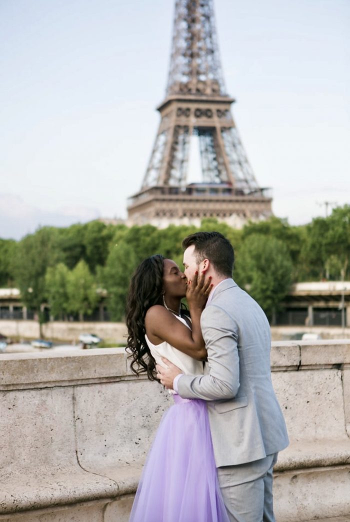 Olivia and Michael's Engagement in Paris France