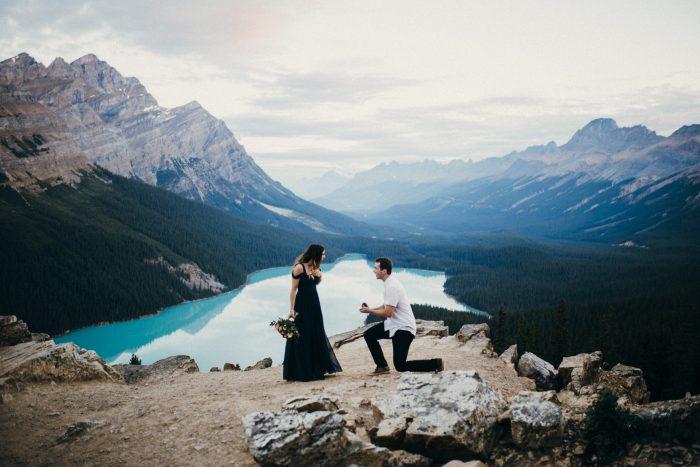 Wedding Proposal Ideas in Peyto Lake, Alberta