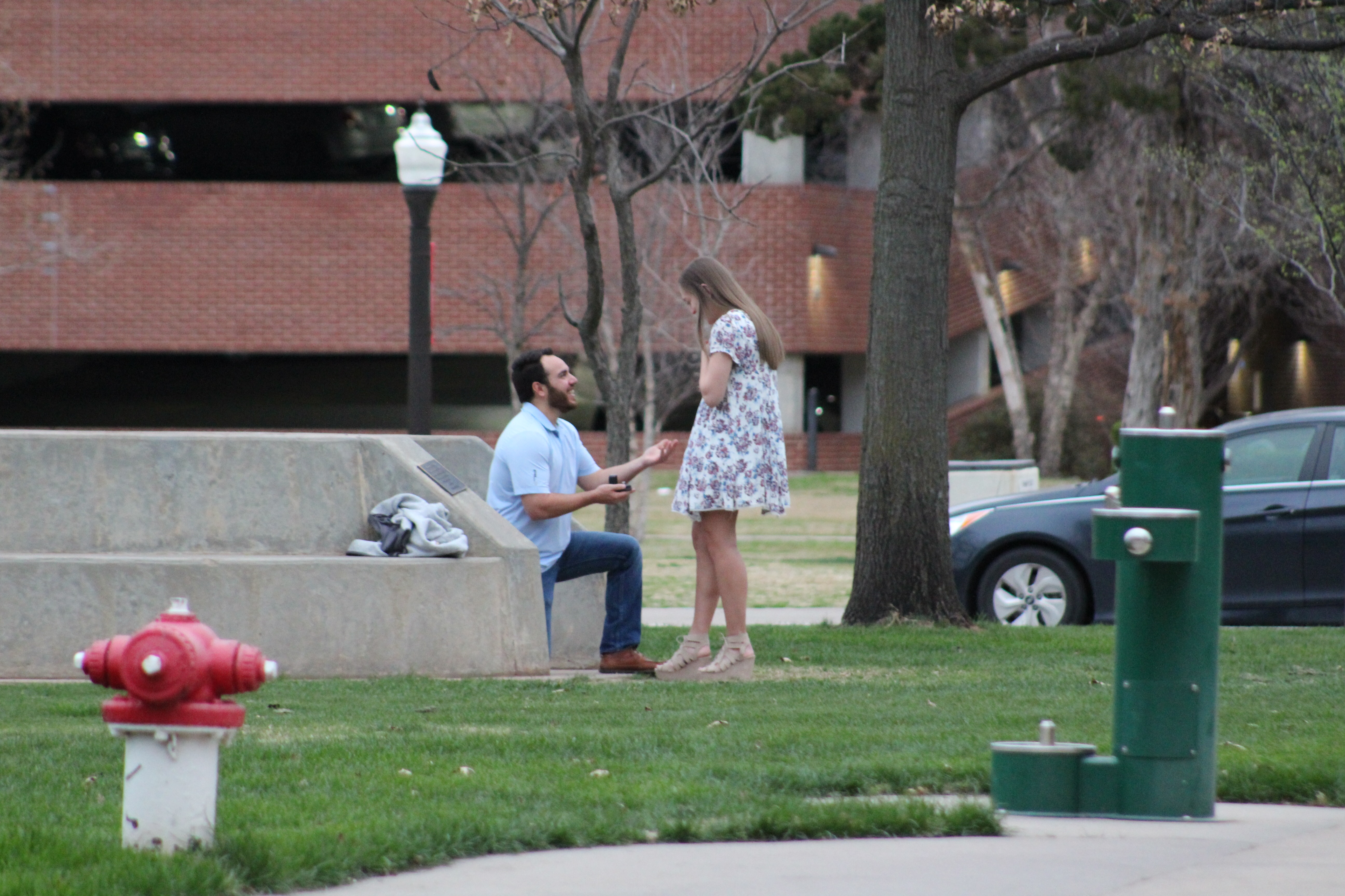 Marriage Proposal Ideas in The Spoonholder on the University of Oklahoma's campus