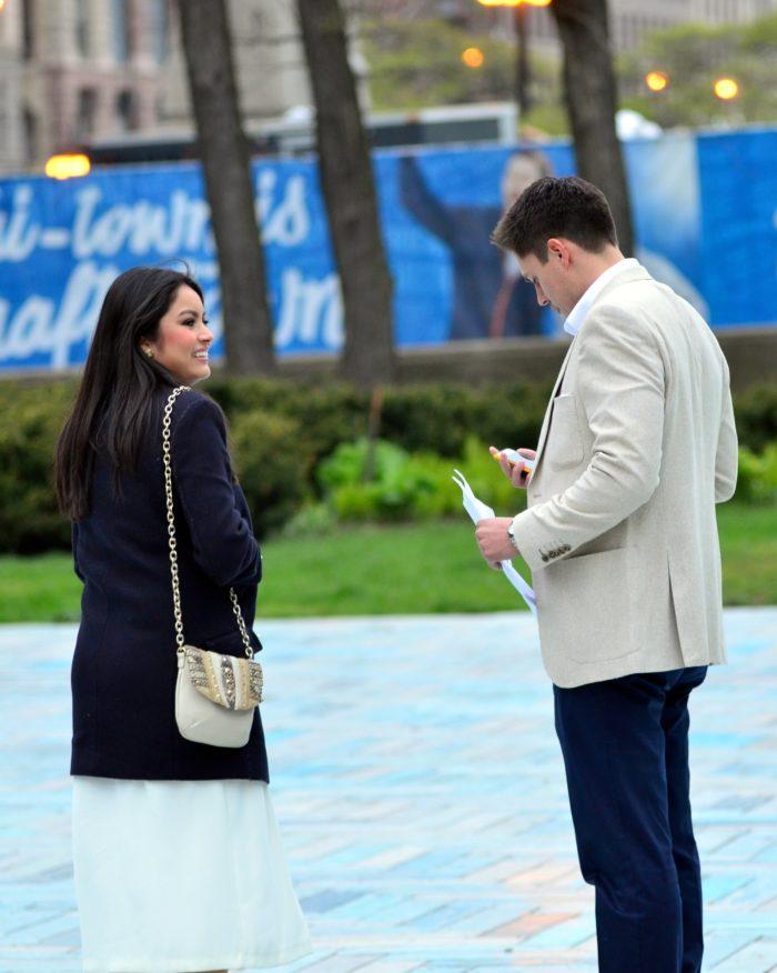 Nancy's Proposal in Spirit of Music Garden - Grant Park: Chicago, Illinois
