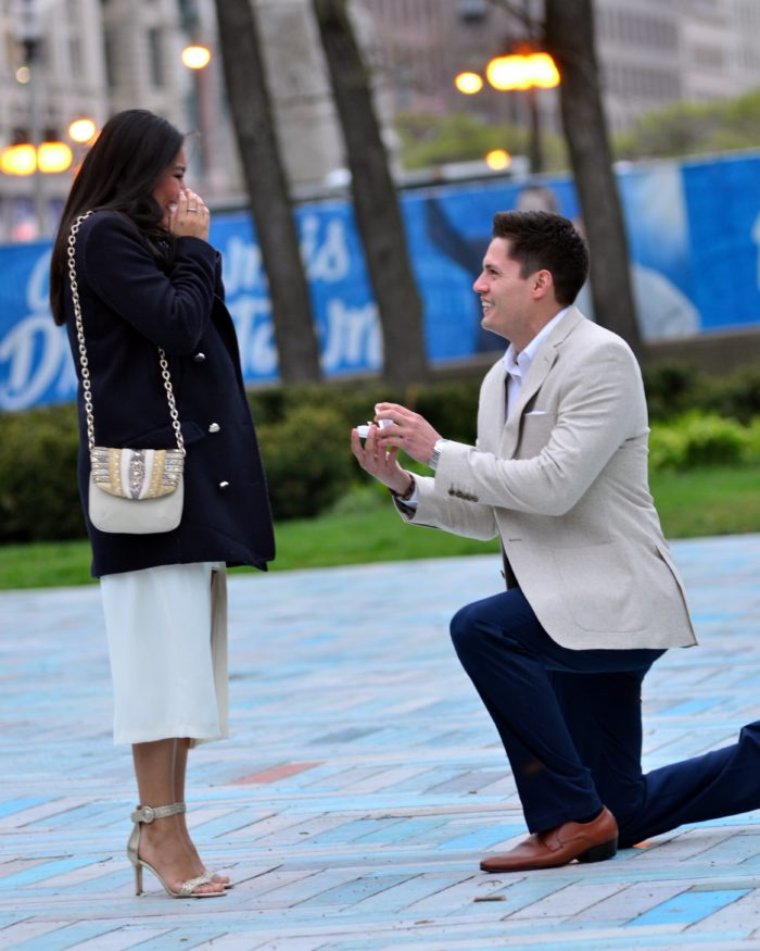 Marriage Proposal Ideas in Spirit of Music Garden - Grant Park: Chicago, Illinois