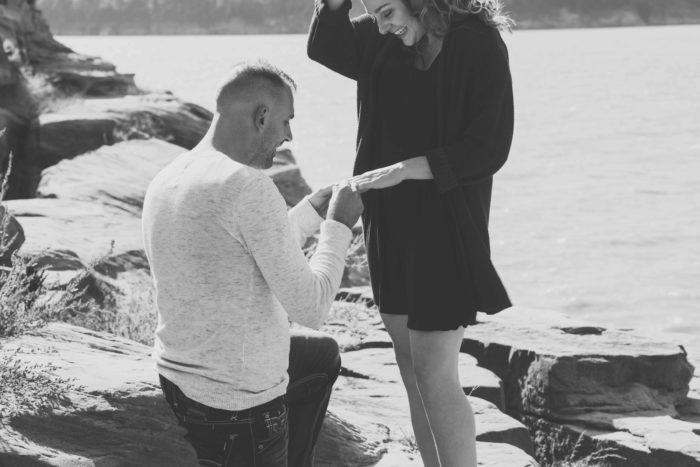 Megan's Proposal in Lake Red Rock