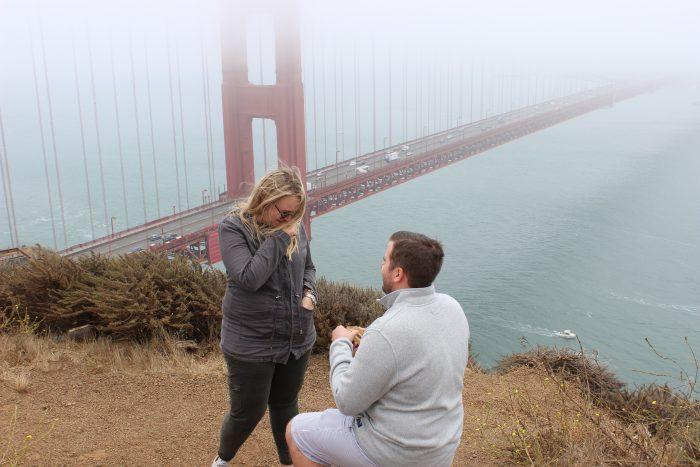 Wedding Proposal Ideas in Golden Gate Bridge, San Francisco, California