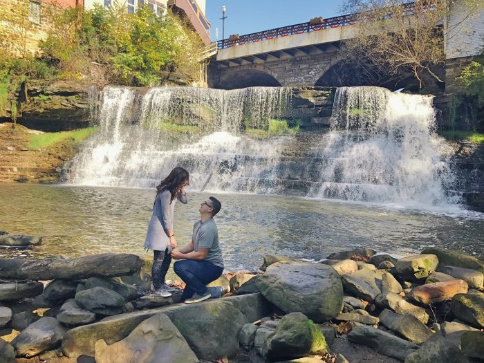 Where to Propose in Chagrin Falls, Ohio