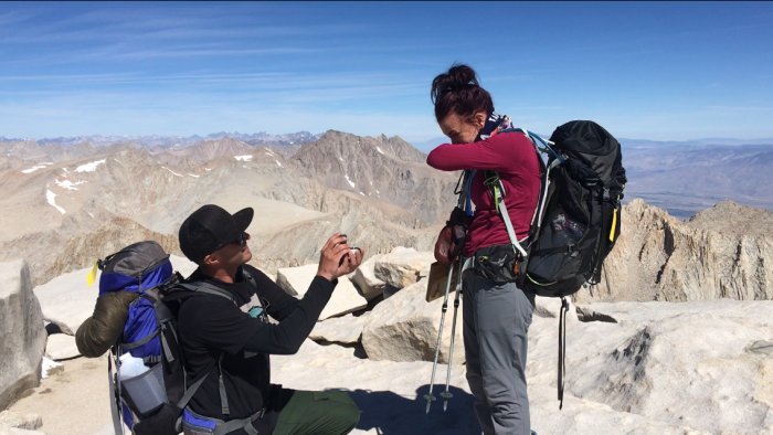 Where to Propose in On top of Mt. Whitney, the highest mountain in the contiguous US.