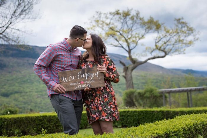 Angelica and Brandon's Engagement in Equinox Pond in Manchester Village, Vermont