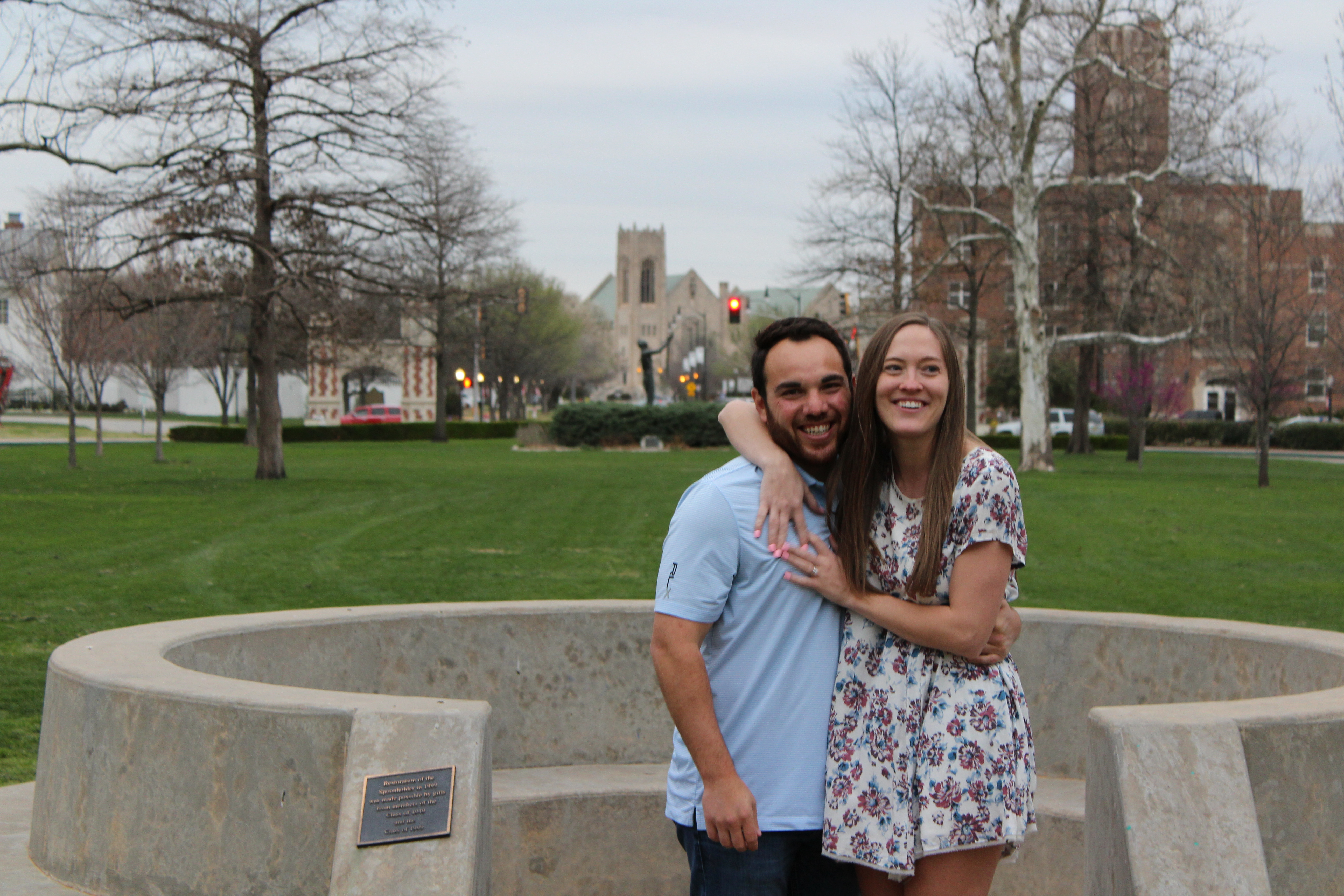 Britney's Proposal in The Spoonholder on the University of Oklahoma's campus