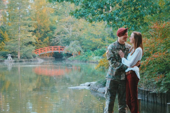 Michelle and Matthew's Engagement in Sarah P. Duke University Gardens
