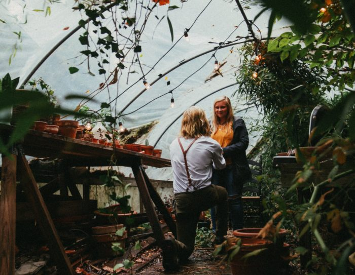 Engagement Proposal Ideas in Inside of a Greenhouse