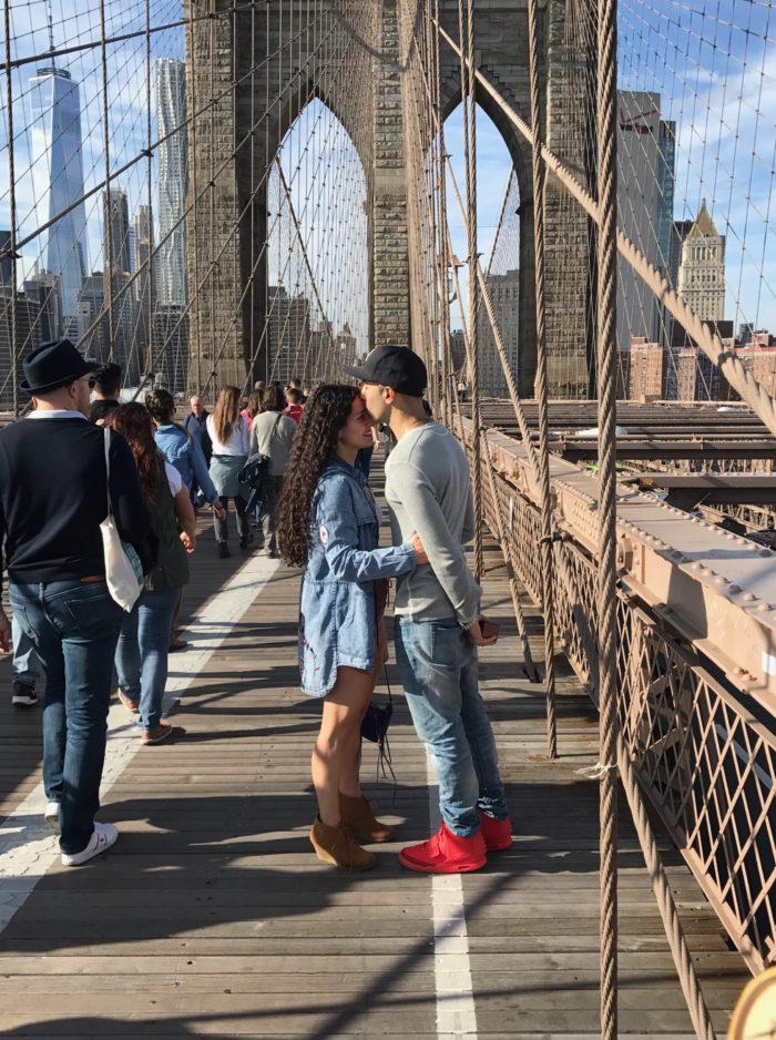 Luciana's Proposal in Brooklyn Bridge