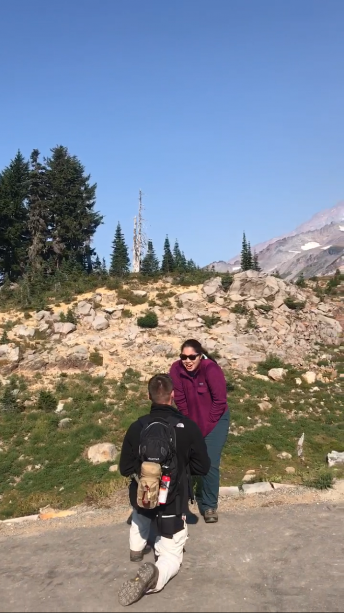 Where to Propose in Paradise at Mt.Rainier National Park