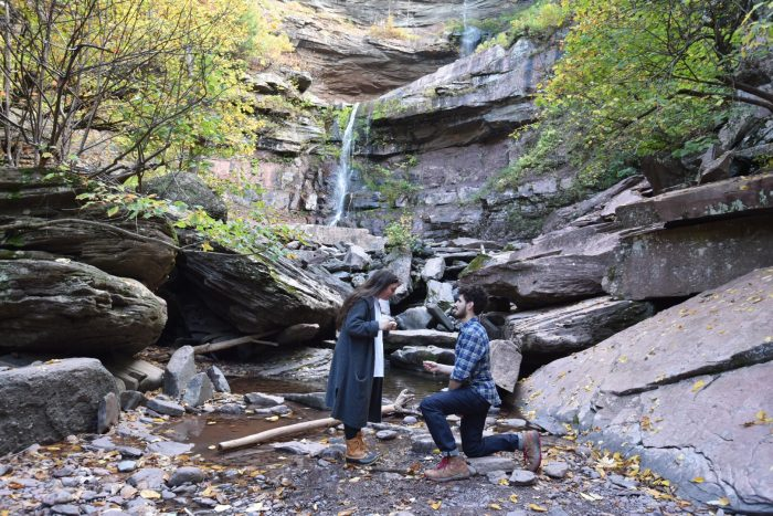 Engagement Proposal Ideas in Kaaterskill Falls, NY