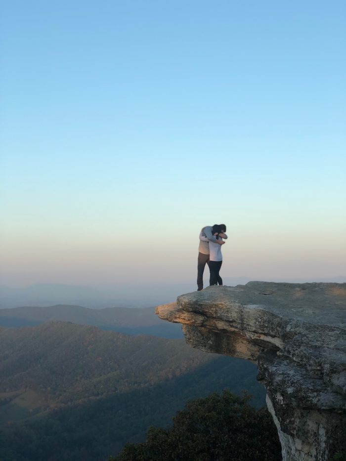 Marriage Proposal Ideas in McAfee Knob