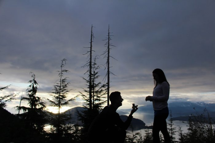 Marriage Proposal Ideas in Bowen Lookout Hike, Vancouver, BC