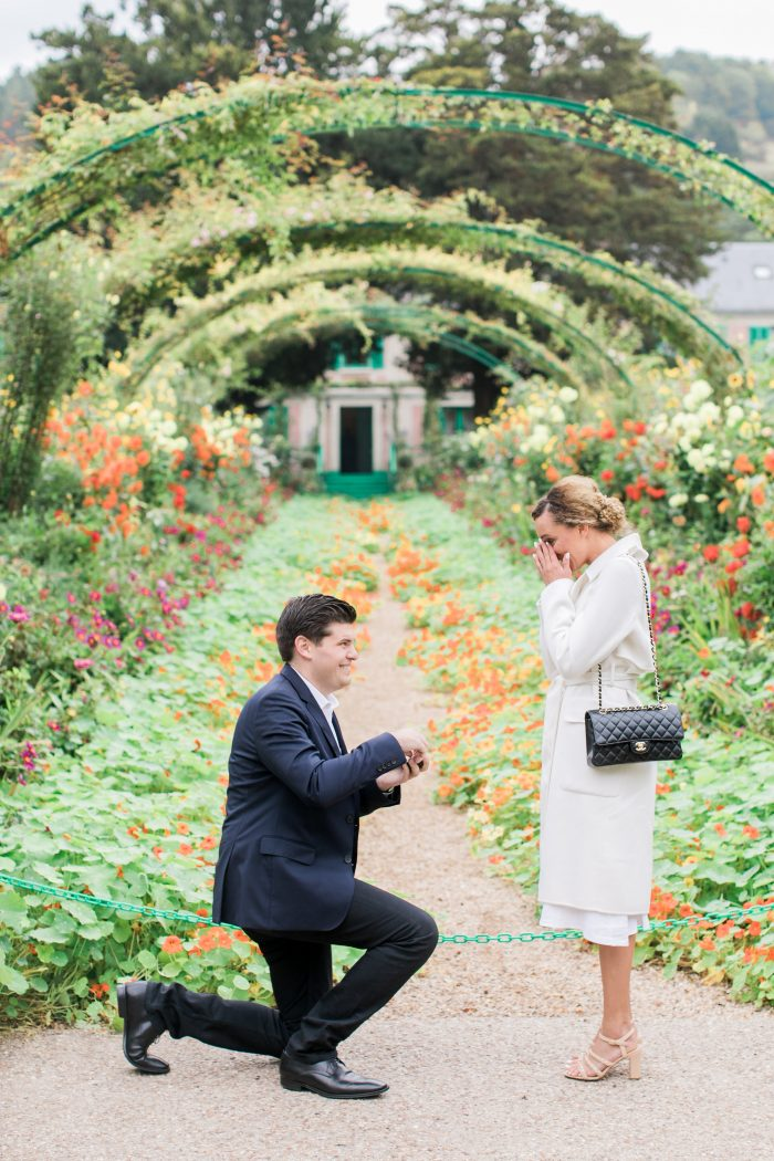Cassandra's Proposal in Monet's Garden Giverny France