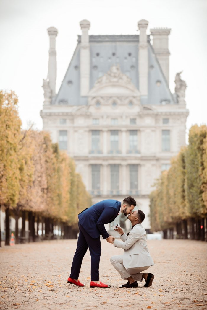 Alex and Donovan's Engagement in Paris, France