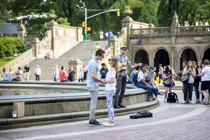 Marriage Proposal Ideas in Bethesda Fountain in Central Park, New York, NY