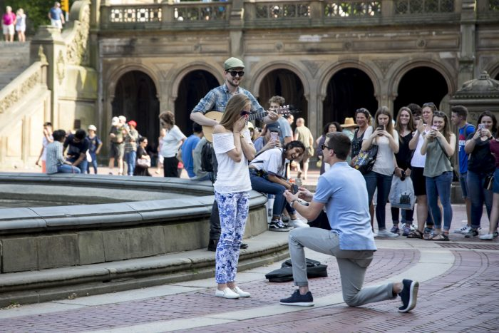 Where to Propose in Bethesda Fountain in Central Park, New York, NY