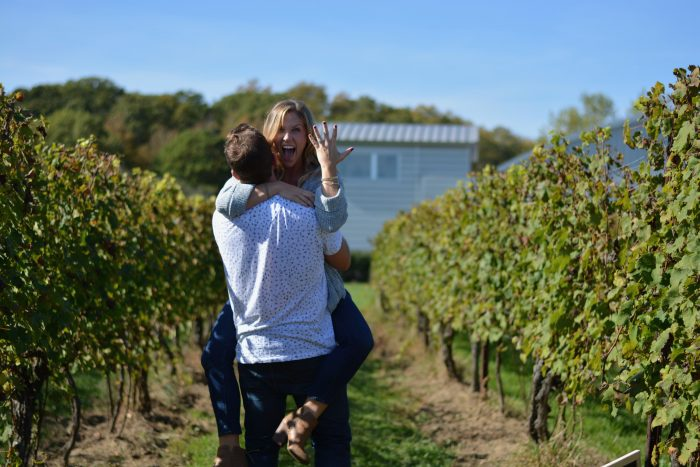 Heather's Proposal in Saltwater Farm Vineyard- Stonington, CT
