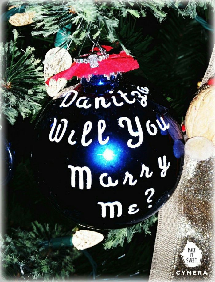 Wedding Proposal Ideas in At our home.