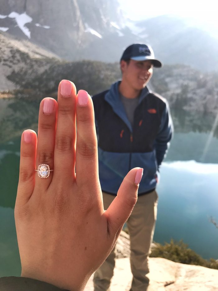 Danielle and Matthew's Engagement in Big Pine Lakes California