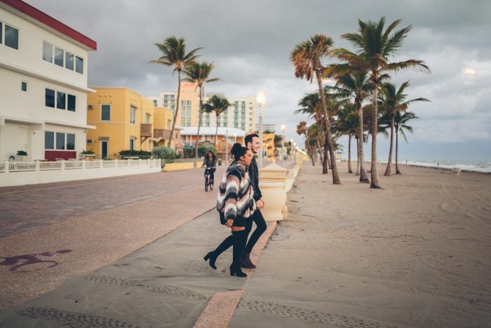 Engagement Proposal Ideas in Hollywood Beach in Fort Lauderdale, Florida