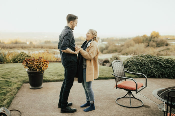 Engagement Proposal Ideas in Friend Sam's House