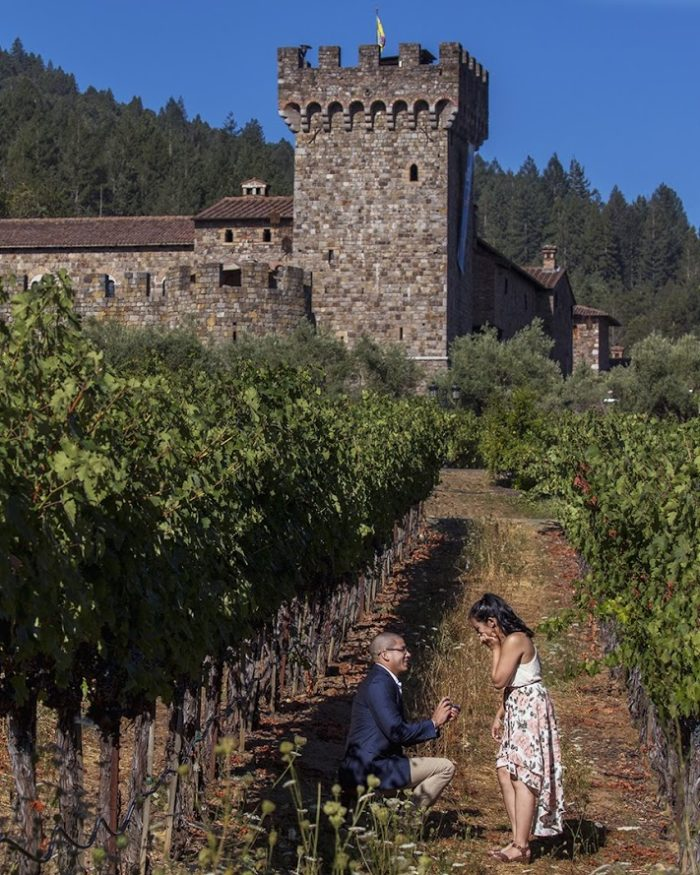 Nicole's Proposal in Castello Di Amorosa Winery