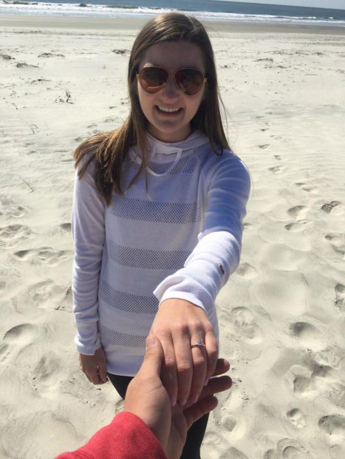 Engagement Proposal Ideas in Sunset Beach, North Carolina (Bird Island - Kindred Spirit Mailbox)