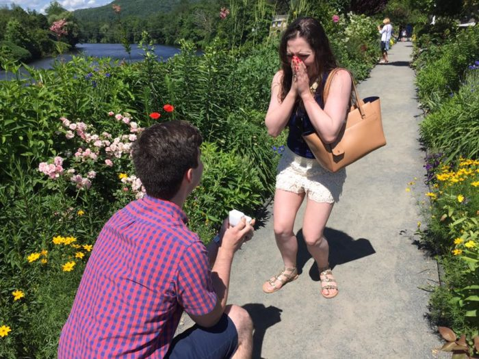 Wedding Proposal Ideas in The Bridge of Flowers, Shelburne Falls, MA