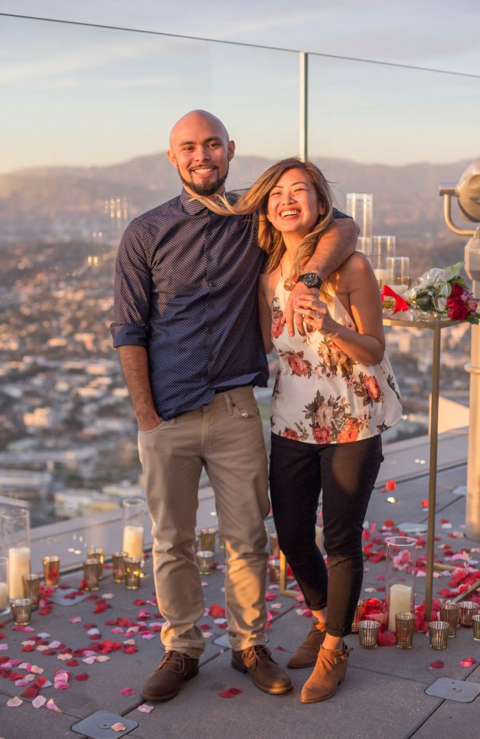Cathy's Proposal in In downtown Los Angeles