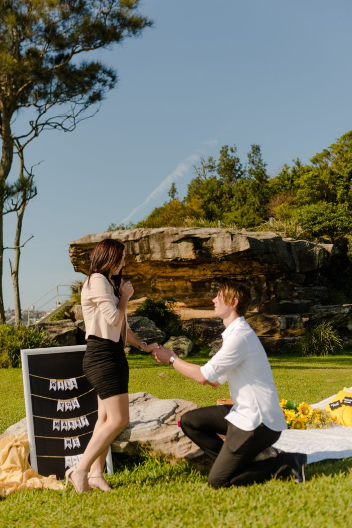 Wedding Proposal Ideas in Clark Island Sydney Australia