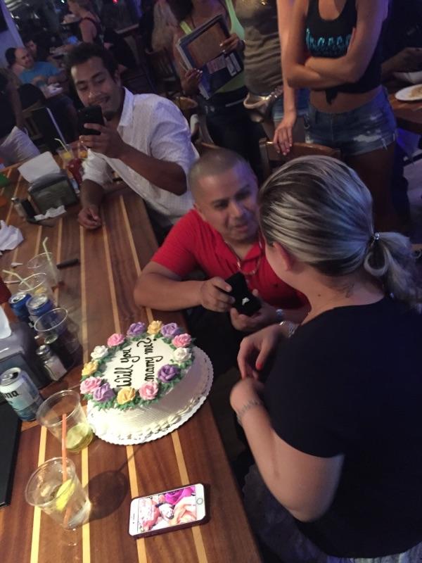 Wedding Proposal Ideas in Bracco's on Nautical Mile, Freeport NY