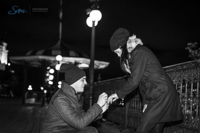 Jenna's Proposal in In front of the Chateau Frontenac in Quebec City