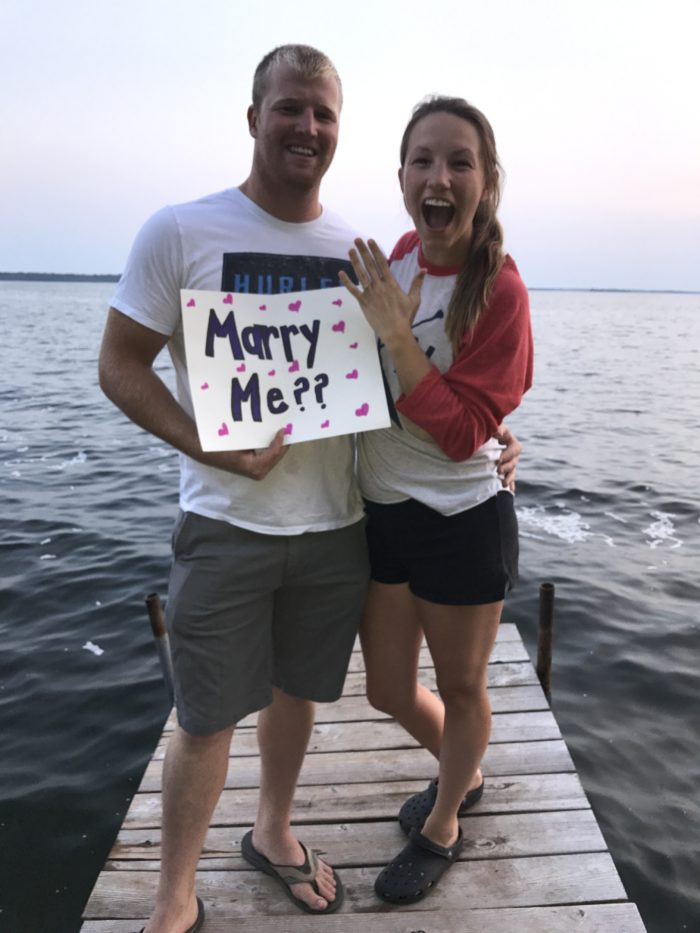 Alexis and Michael's Engagement in Lake Mille Lacs, Minnesota