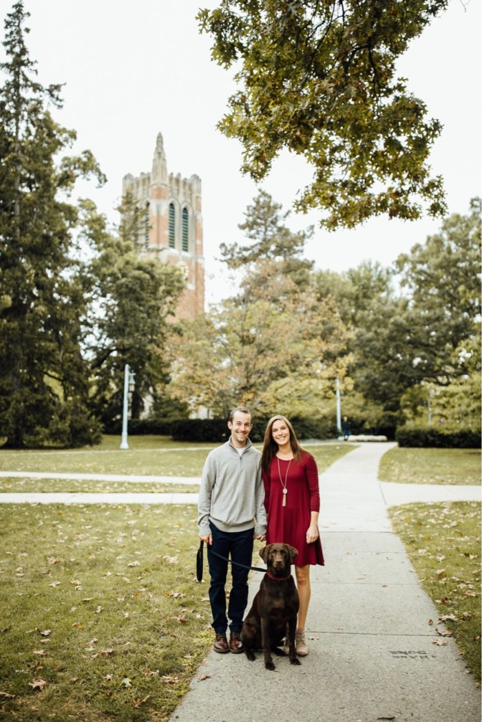 Gabraelle and Eric's Engagement in Beaumont Tower, Michigan State University
