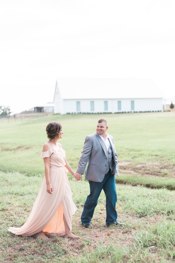 Charity and Caleb's Engagement in The Farmhouse, Montgomery, TX
