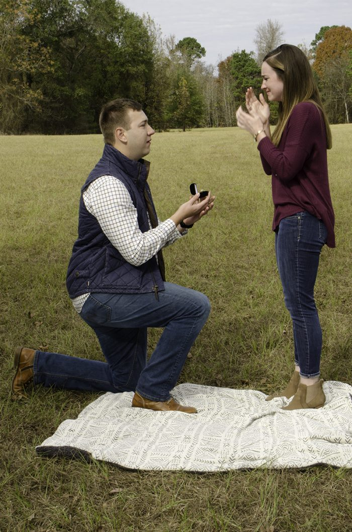 Allie and Clayton's Engagement in Joan, Arkansas