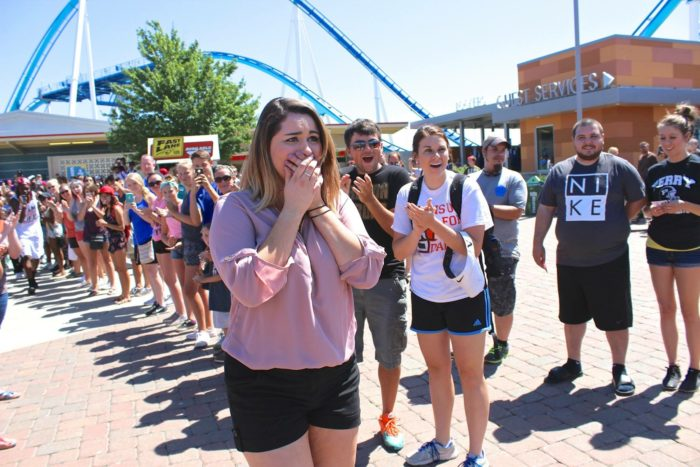Julia and Josh's Engagement in Cedar Point, Ohio