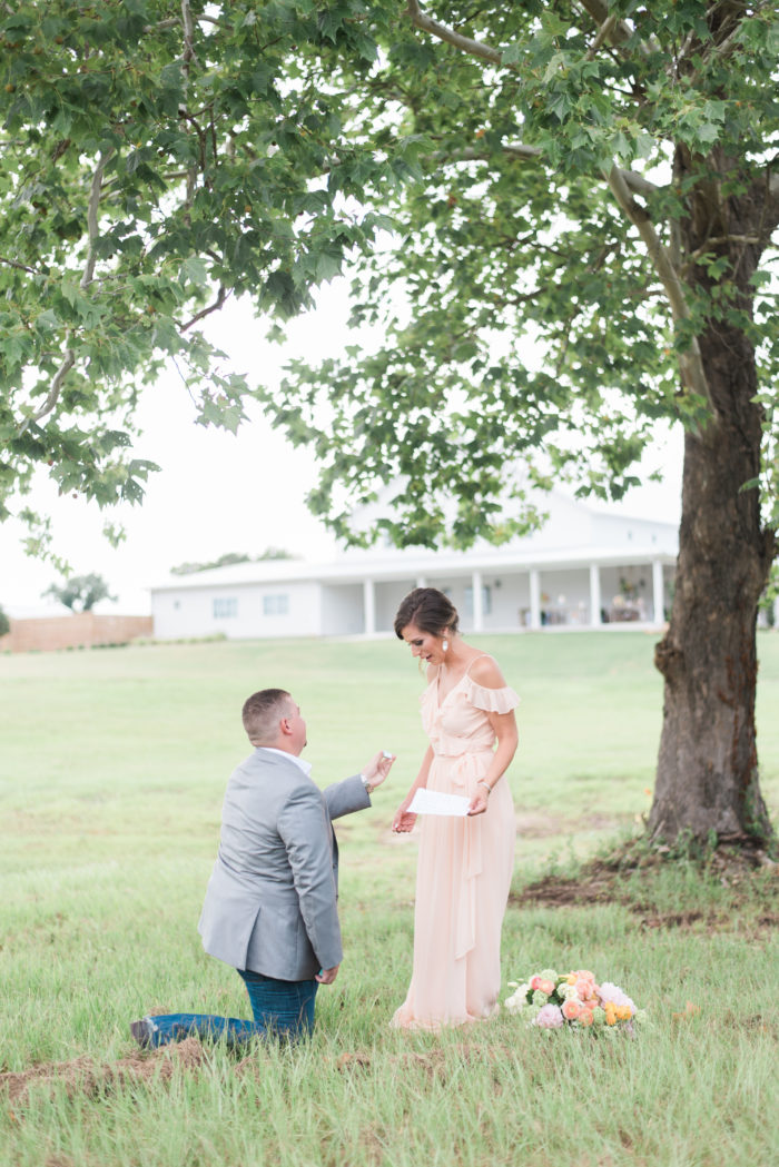 Wedding Proposal Ideas in The Farmhouse, Montgomery, TX