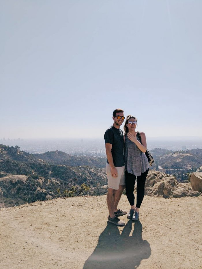 Where to Propose in Los Angeles - Overlooking Griffith Observatory and Hollywood Sign