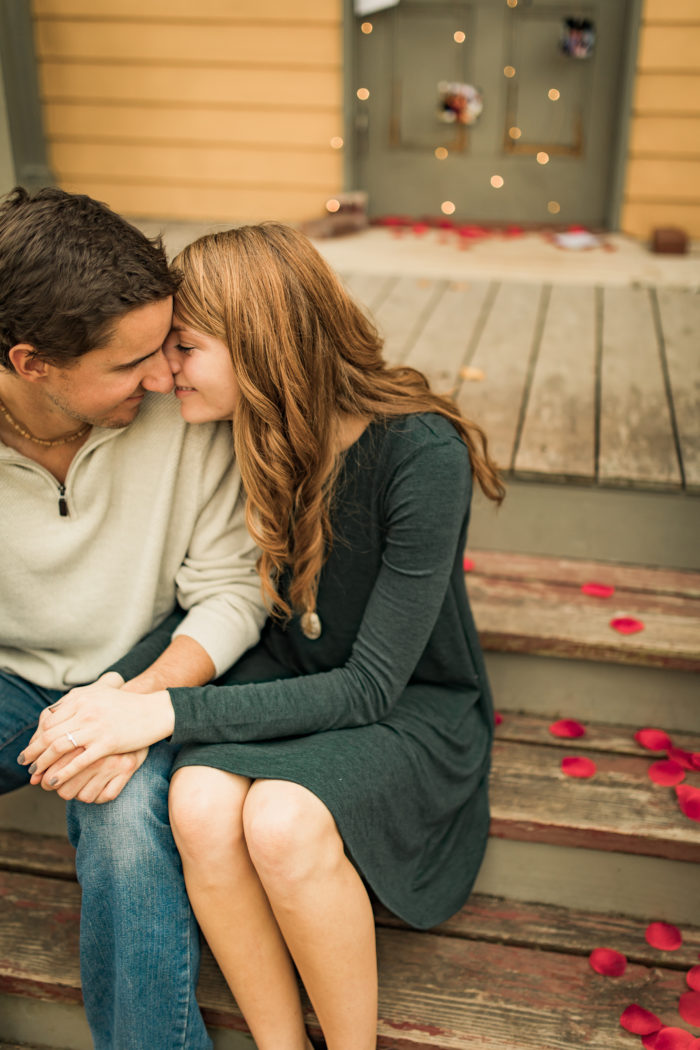 Marriage Proposal Ideas in Old Historic Village, Faust Park, Chesterfield, MO