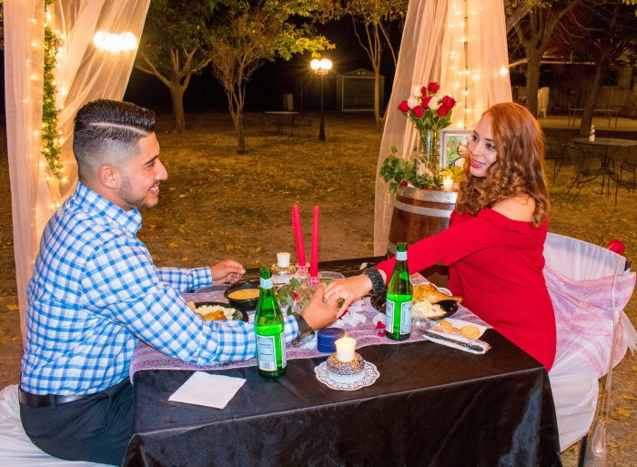 Abel's Proposal in St Clair Winery in Deming New Mexico