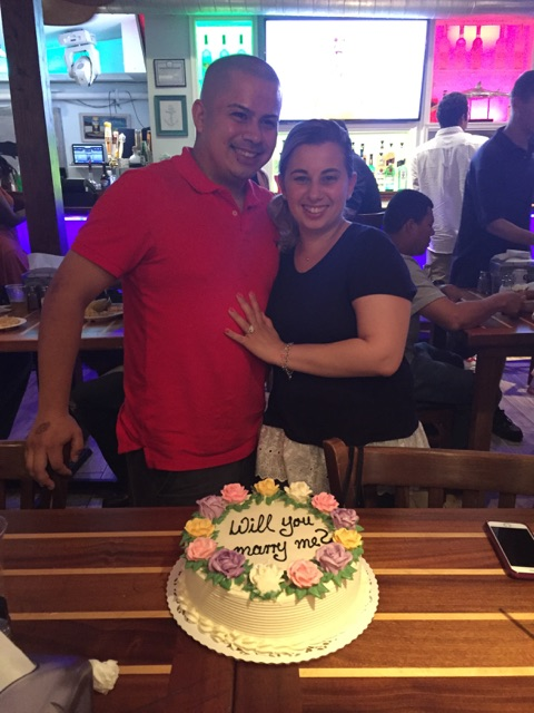 Jason's Proposal in Bracco's on Nautical Mile, Freeport NY
